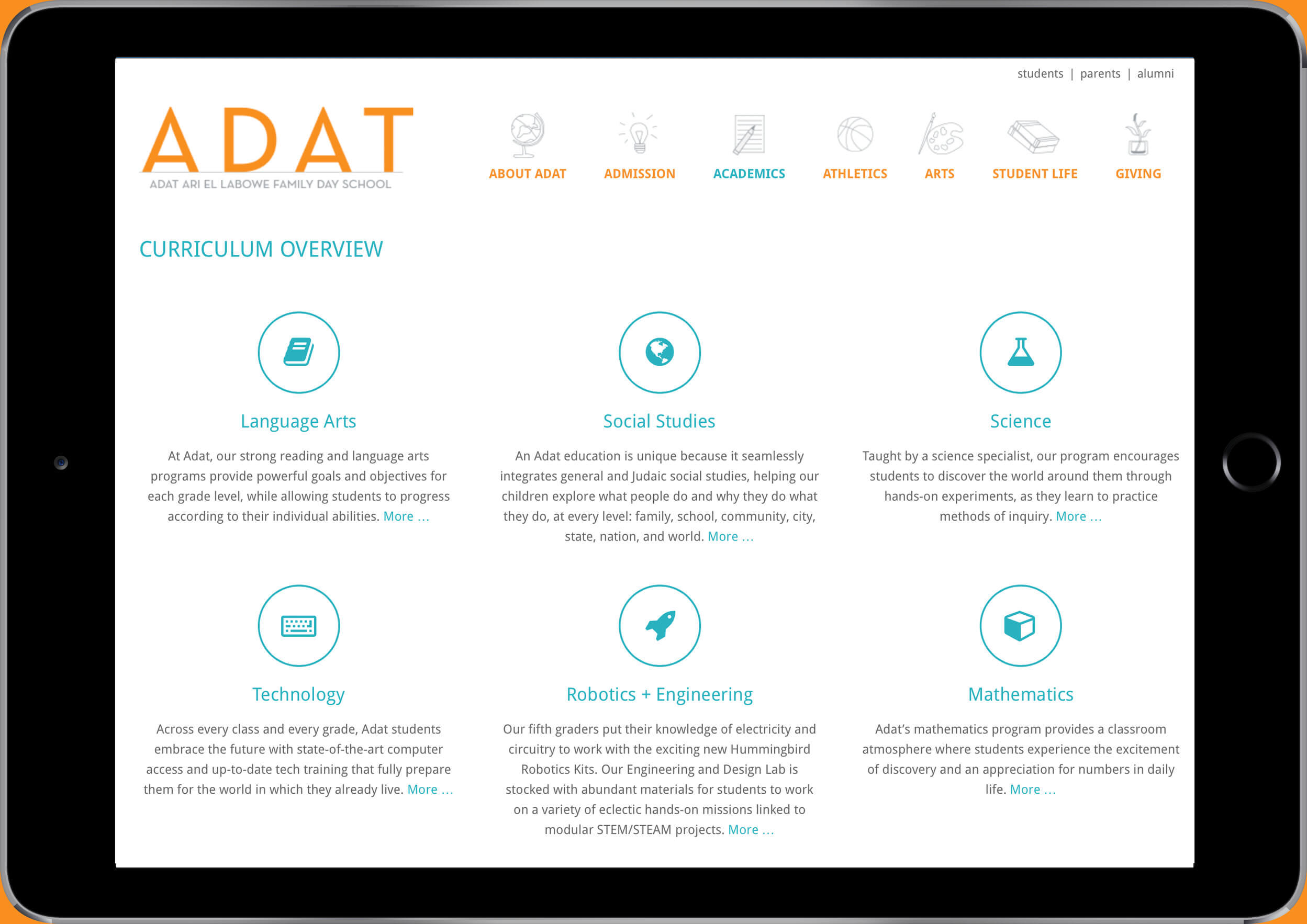 school website design adat