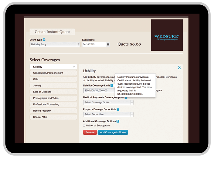 wedsure web application
