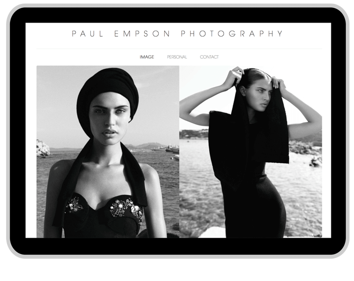 custom photography website